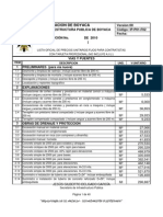 Listado de Precios 2010
