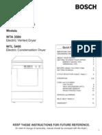 Bosch WTL5400 Manual Szárító