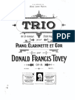 Trio for Clarinet, Horn and Piano, Op. 8