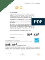 Vizio SV471XVT1A Manual