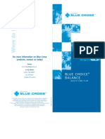 Blue Choice Balance Details