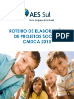Roteiro de Elaboração de Projeto Sociais AES Sul
