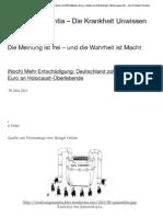 (Noch) Mehr Entschädigung- Deutschland zahlt 800 Millionen Euro an Holocaust-Überlebende | Morbus ignorantia - Die Krankheit Unwissen - mein Kommentar - 31. Mai 2013.pdf
