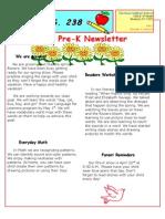 Prek April Newsletter