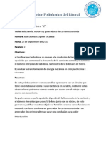 Reporte #12 Inductancia, Motores y Generadores de Corriente Continua