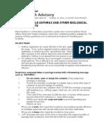 CDC Pkg Advisory
