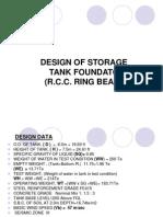 Design of Storage Tank Foundation