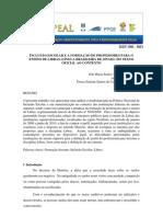 Inclusao Escolar e a Formacao de Professores Para o Ensino de Libras Lingua Brasileira de Sinais
