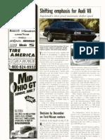 Audi V8 Autoweek 1987