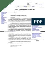 organizarea lucrarilor geodezice