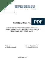 EU Monetarni Sistem i EU Montetarna Unija (Autosaved)