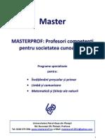 Master Prezentare