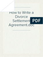How to Write a Divorce Settlement Agreement
