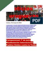 Noticias Uruguayas Viernes 31 de Junio Del 2013