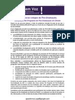 Boletim A Pós tem Voz - RD - junho de 2013