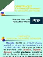 CONSTRUCTII – DEFECTIUNI, DEGRADARI, DISTRUGERI