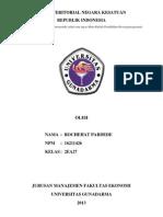 MAKALAH II WAWASAN NUSANTARA TOPIK BATAS TERITORIAL NEGARA KESATUAN REPUBLIK INDONESIA.docx