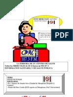 PROGRAMA RADIO Cartel Tabaquismo