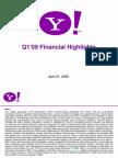 Yahoo YHOO Q109 Earnings Presentation