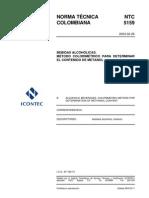 NTC 5159 DETERMINACION CONTENIDO DE METANOL.pdf