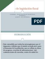 Trabajo de legislación fiscal