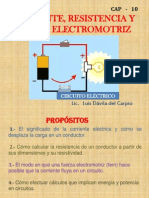 CAP  10 - CORRIENTE ELÉCTRICA