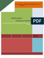Plan de Afacere Restaurantului Rapsodia