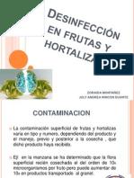 Desinfección en frutas y hortalizas