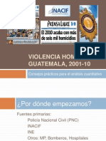 Violencia Homicida en Guatemala Consejos Clase URL