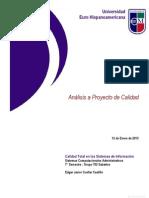 12012013 Analisis Proyecto de Calidad
