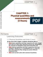 Physical quantities Matriculation STPM