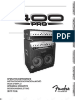 400 PRO Combo and Head Manual