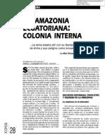 05. Coyuntura. La amazonía ecuatoriana. Colonia interna. María Fernanda Espinosa