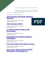 IT Jobs From Jobs Bridge- Apr 21
