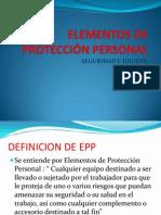 ELEMENTOS DE PROTECCIÓN PERSONAL[1]