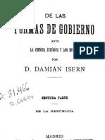 683217 DE LAS FORMAS DE GOBIERNO ANTE LA CIENCIA JURÍDICA Y LOS HECHOS - ISERN TOMO II