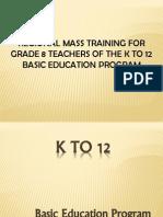 K-12 Bep Overview