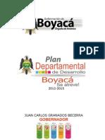 Plan Departamental de Desarrollo 2012 - 2015 Boyacá Se Atreve