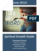 Covenant Spiritual Growth Guide June 2013