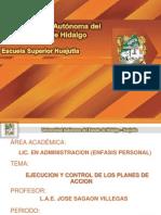 Ejecucion y Contro de Los Planes de Accion