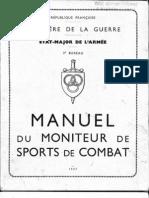 Manuel Du Moniteur de Sports de Combat -  1947