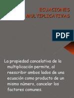 Ecuaciones multiplicativas