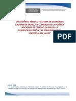 Calidad en Salud en El Marco de Politica Nacional Calidad en Salud Descentralizcion y Aus