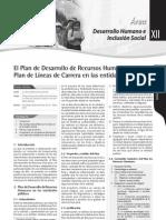 El Plan de Desarrollo de Recursos Humanos y El