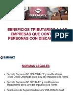 Beneficios Tributarios a Las Empresas Que Contratan Personas Con Discapacidad