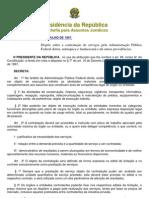 Decreto nº 2.271-97 Contratação de Serviços pela Adm. Pública Federal