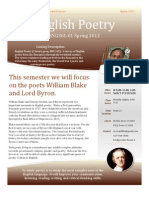 English Poetry Syllabus