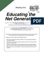 Educating Net Generation