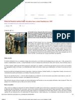 Piloto de Pinochet confesó haber lanzado al mar a cinco frentistas en 1987