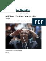 31-05-13 ONU llama a Guatemala a juzgar a Ríos Montt